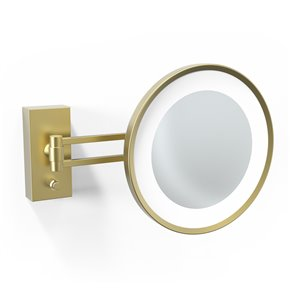 WS Bath Collections Magnifying Makeup Mirror - Matte Gold