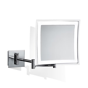 WS Bath Collections Magnifying Mirror - Polished Chrome/Brass