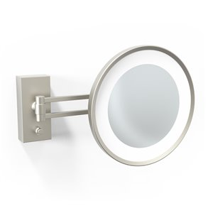 WS Bath Collections Magnifying Makeup Mirror - Matte Nickel