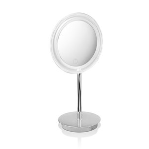 WS Bath Collections Magnifying LED Makeup Mirror - Polished Chrome/Brass
