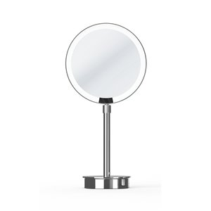 WS Bath Collections Magnifying Makeup Mirror - Polished Chrome/Brass