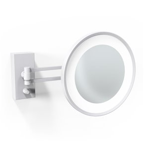 WS Bath Collections Magnifying LED Mirror - Matte White