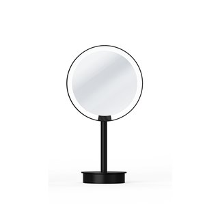 WS Bath Collections Magnifying Wall-Mounted Makeup Mirror - Matte Black