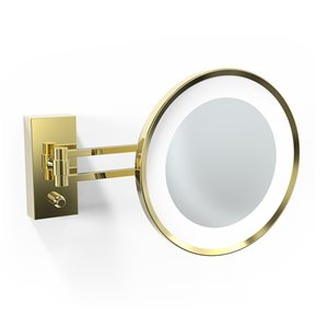 WS Bath Collections Magnifying Makeup Mirror - Shiny Gold
