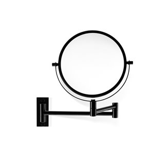WS Bath Collections Magnifying LED Mirror - Matte Black
