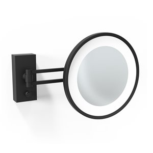 WS Bath Collections Magnifying Wall-Mount Makeup Mirror - Matte Black
