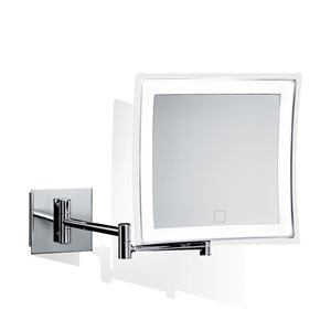 WS Bath Collections Magnifying Wall-Mounted Makeup Mirror - Polished Chrome