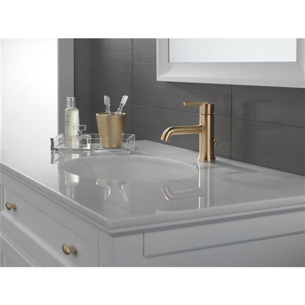 Delta Trinsic Bathroom Faucet 1 Handle Champagne Bronze 559lf Czmpu Rona