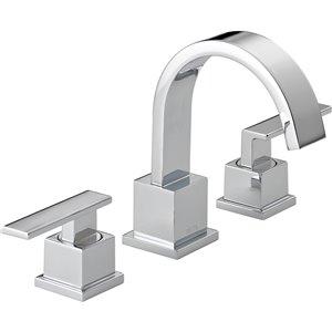 Robinet de salle de bain à large entraxe Vero de DELTA, 2 poignées, chrome