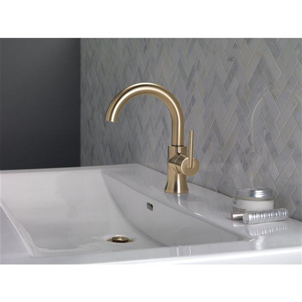 Delta Trinsic High Arc Bathroom Faucet 1 Handle Champagne Bronze 559ha Cz Dst Rona