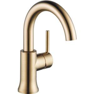 Robinet de salle de bain Trinsic de DELTA, 1 poignée, champagne bronze