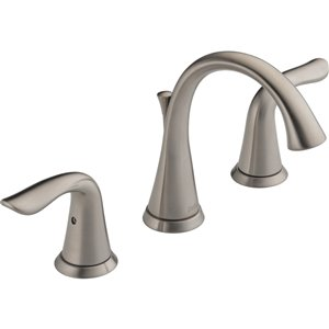 Robinet de salle de bain à large entraxe Lahara de DELTA, 2 poignées, acier inoxydable
