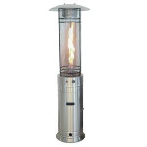 Legacy 4-Sided Propane Patio Heater - 46,000-BTU - 72.8-in - Stainless Steel