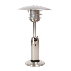 Legacy Table Top Propane Patio Heater - 10,000-BTU - 36.4-in - Stainless Steel