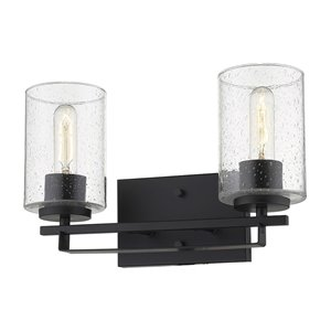Applique pour meuble-lavabo à 2 lumières Orella Orella de Acclaim Lighting, noir mat