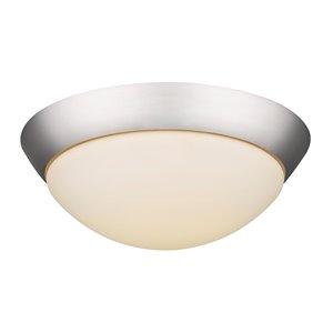 Plafonnier intérieur moderne DEL avec base Flushmount de Acclaim Lighting, 1080 lumens, nickel satiné