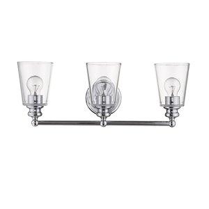 Applique de meuble-lavabo Ceil de Acclaim Lighting, 3 lumières, chrome