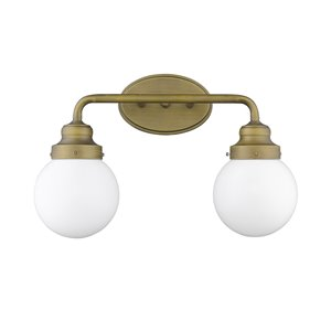 Luminaire pour salle de bain Portsmith de Acclaim Lighting, 2 lumières, laiton brut