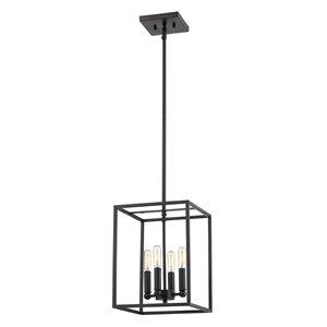 Luminaire suspendu Cobar de Acclaim Lighting, 4 ampoules, noir mat