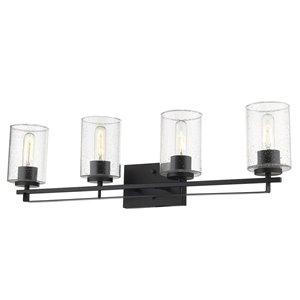 Applique pour meuble-lavabo à 4 lumières Orella de Acclaim Lighting, noir mat