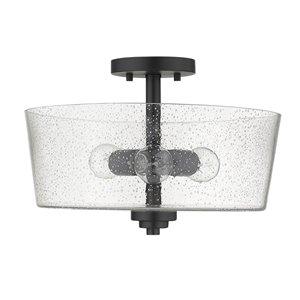 Semi-plafonnier moderne à 3 ampoules Rowe de Acclaim Lighting, 15 po, noir