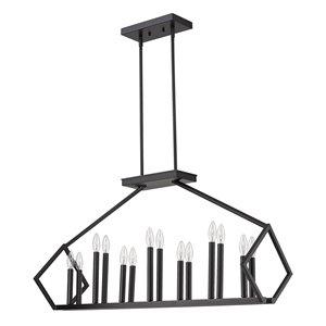 Luminaire suspendu Luca de Acclaim Lighting, 14 ampoules, noir mat