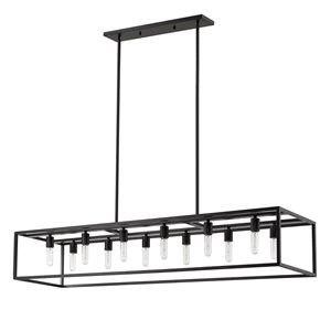 Luminaire suspendu Cobar de Acclaim Lighting, 12 ampoules, noir mat