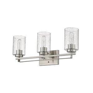 Applique pour meuble-lavabo à 3 lumières Orella de Acclaim Lighting, nickel satiné