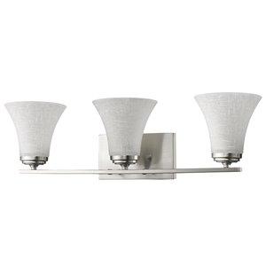 Luminaire pour salle de bain Union de Acclaim Lighting, 3 lumières, nickel satiné