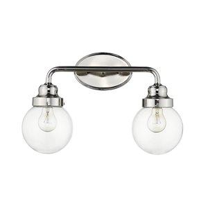 Luminaire pour salle de bain Portsmith de Acclaim Lighting, 2 lumières, nickel poli