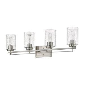 Applique pour meuble-lavabo Orella de Acclaim Lighting, 4 lumières, nickel satiné