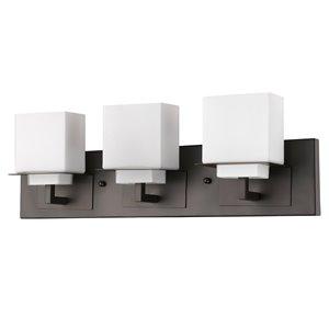 Applique pour meuble-lavabo Rampart de Acclaim Lighting, 3 lumières, bronze huilé