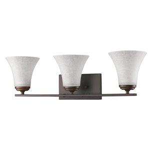 Luminaire pour salle de bain Union de Acclaim Lighting, 3 lumières, bronze huilé