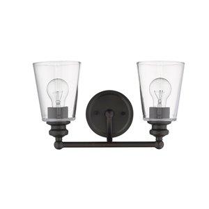 Applique de meuble-lavabo Ceil de Acclaim Lighting, 2 lumières, bronze