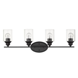 Applique de meuble-lavabo Gemma de Acclaim Lighting, 4 lumières, noir