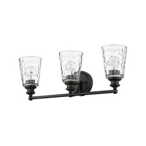 Applique pour meuble-lavabo à 3 lumières Mae de Acclaim Lighting, bronze huilé