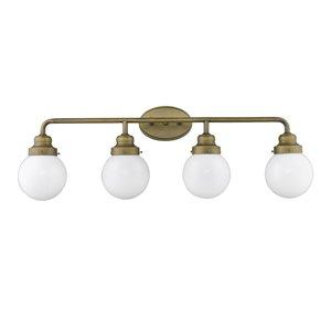 Luminaire pour salle de bain Portsmith de Acclaim Lighting, 4 lumières, laiton brut