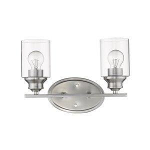 Applique de meuble-lavabo Gemma de Acclaim Lighting 2 lumières, nickel satiné