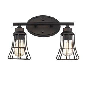 Applique Piers de Acclaim Lighting, 2 lumières, bronze huilé