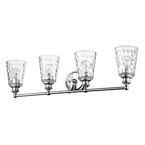 Applique pour meuble-lavabo à 4 lumières Mae de Acclaim Lighting, chrome