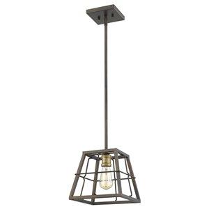 Mini-pendentif à 1 lumière Charley de Acclaim Lighting, bronze huilé