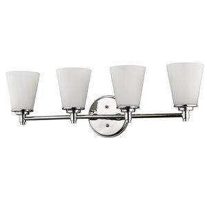 Luminaire pour salle de bain Conti de Acclaim Lighting, 4 lumières, nickel poli