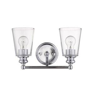 Applique de meuble-lavabo Orella de Acclaim Lighting, 2 lumières, chrome