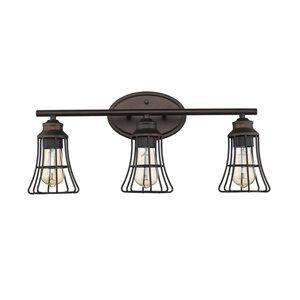 Applique Piers de Acclaim Lighting, 3 lumières, bronze huilé