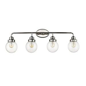 Luminaire pour salle de bain Portsmith de Acclaim Lighting, 4 lumières, nickel poli