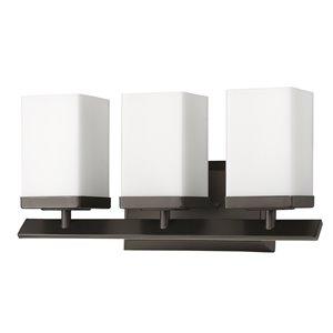 Applique pour meuble-lavabo Burgundy de Acclaim Lighting, 3 lumières, bronze huilé