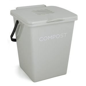 Tumbleweed Organi-Bin Kitchen Compost Bin - 2 Gallons - Antique White