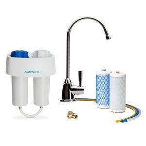 Filtre à eau sous l'évier avec robinet Austin Springs, chrome