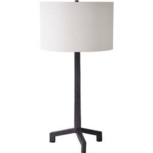 Lampe de Table Solyn de Notre Dame Design, 34 po, abat-jour en tissu, noir