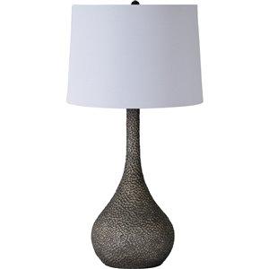 Lampe de Table Seano de Notre Dame Design, 24,5 po, abat-jour en tissu, noir